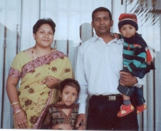 Girisha's parents